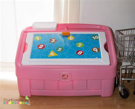 Hgg  2in1 Toy Box And Art Lid By Step2  Ourkidsmom