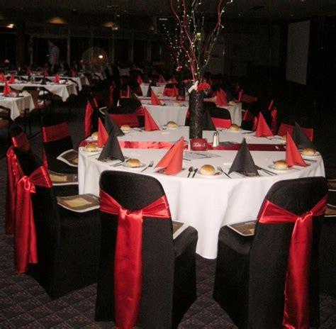 red  black wedding theme table decoration wedding