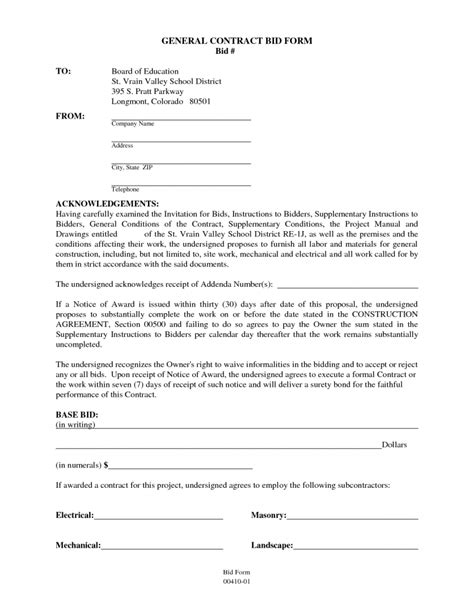 general contractor contract sample contractor contract