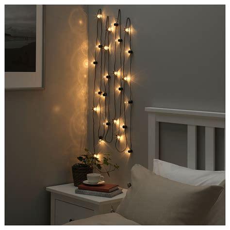 Led Lights For Room Ikea by Bl 214 Tsn 214 Led String Light With 24 Lights Indoor Black