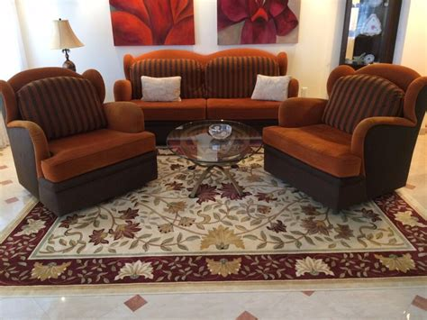 Loveseat And Ottoman Set by Modern Deco Sofa Two Chairs Set Living Room