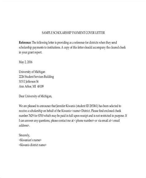 sample  application letter  scholarship grant