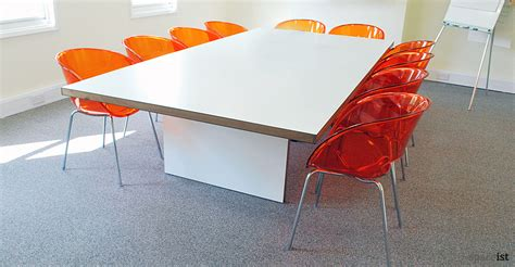 recent project agency inc white meeting room table