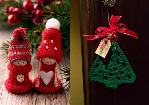 33 Cute Knitted Christmas Decorations For Your Home Small Kitchen Utensils Island Base Kits Door Curtain Ideas Made From Reclaimed Wood Benchtop Cart Metal Table On Wheels