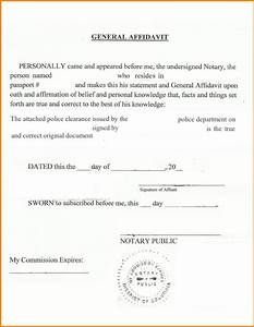 Texas Notary Format Notary Statement Texas Sample General Affidavit For Police