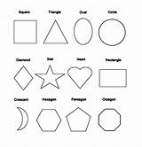 Shapes Coloring Basic Netart sketch template