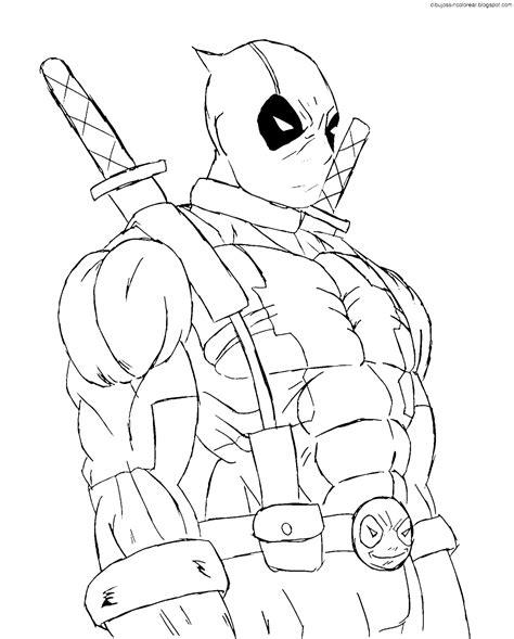 Dibujos Sin Colorear: Dibujos de Deadpool para Colorear