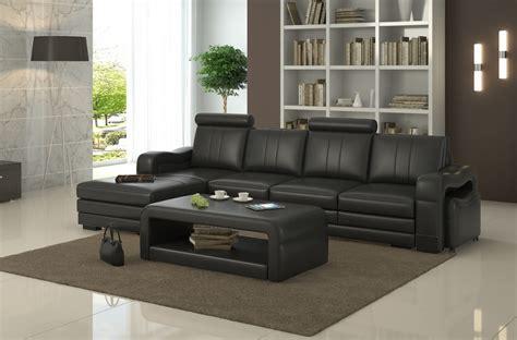 canapé d 39 angle en cuir italien 5 places romana noir
