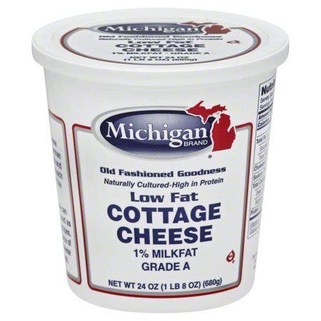 Cottage Cheese Brands Michigan Brand 1 Milk Cottage Cheese 24 Oz