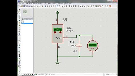 lm precision centigrade temperature sensors isis proteus simulation youtube
