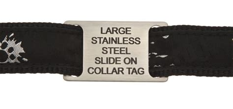 Large Stainless Steel Slide On Pet Id Tags For Dogs