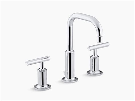 purist widespread sink faucet   lever