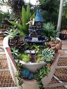 diy broken pots fairy gardens the art in life With katzennetz balkon mit fantasy fields magic garden