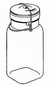 Clipart Pantry Food Clip Line Library Canning Fashioned sketch template