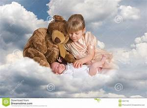Baby On Clouds Stock Photo - Image: 4641760