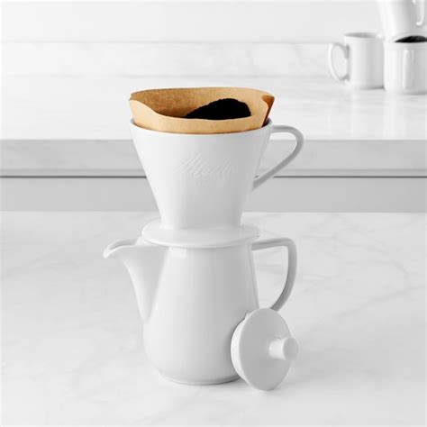 3.3 out of 5 stars with 170 ratings. Melitta Porcelain Pour-Over Coffee Maker Set   Williams Sonoma
