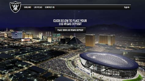 raiders accepting deposits season las vegas stadium