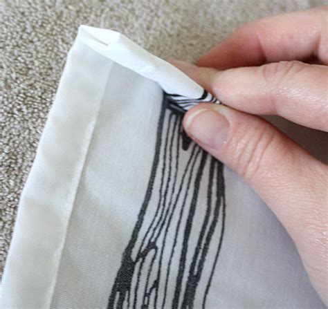 how to perfectly hem curtains