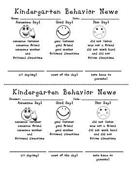 kindergarten behavior new daily behavior rubric by 756 | original 223553 1
