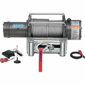 Ramsey Patriot Profile 12 Volt Dc Powered Electric Truck Winch With Wireless Remote  U2014 12 000
