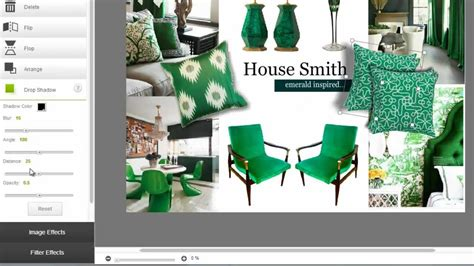 create  interior design mood board  minutes