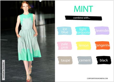 fashion color trends mint green tangerine