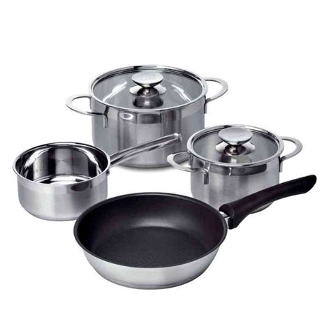 bosch pan induction hob steel stainless four piece pots ovens accessories