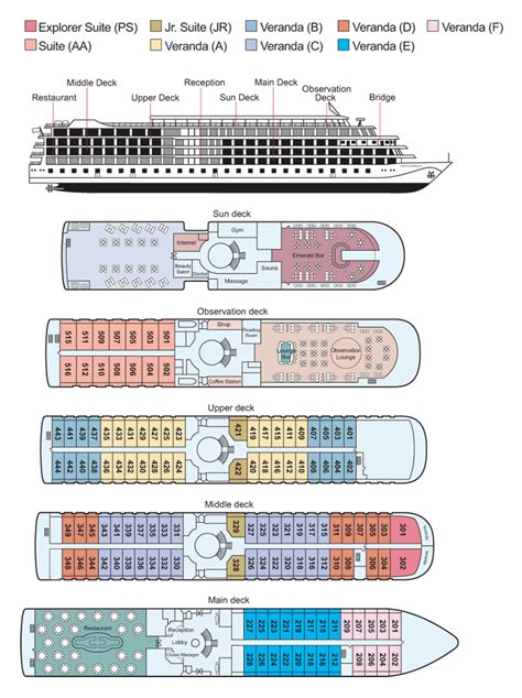 deck plans com about the viking emerald viking river cruises