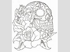 Sugar Skull Tattoo Coloring Pages | auto-kfz.info