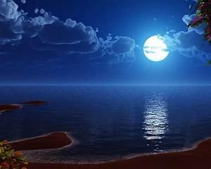 Desktop Blue Moon Wallpaper Wallpaper