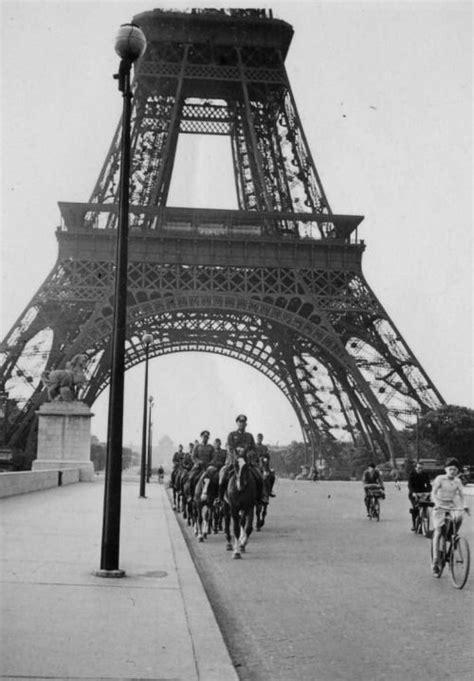 A German Troop Under The Eiffel Tower In Occupated Paris