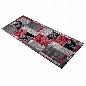 Läufer 80 X 200 : eleganter l ufer rot grau 80x200 teppich flachflorteppich flachflor flurteppich ebay ~ Whattoseeinmadrid.com Haus und Dekorationen