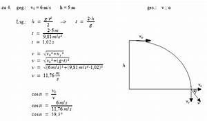 Wurf Berechnen : patrick 39 s physikseite physikaufgaben mit l sungen physik ~ Themetempest.com Abrechnung