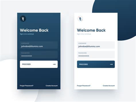 customer support app login ui design  anmol arora