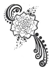 Black and White Flower Tattoo Drawings