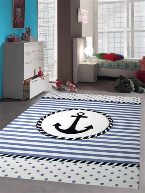 Kinderzimmer Junge Maritim by Teppich Kinderzimmer Babyzimmer Jungen Anker Maritim Blau