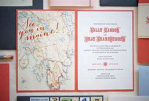 Sally gray39s maine map destination wedding invitations for Wedding invitations for destination weddings wording