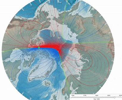 Pole Magnetic North Earth Movement Moved Recent