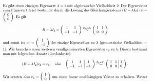 Eigenvektor Berechnen : eigenvektor zum eigenwert berechnen mathelounge ~ Themetempest.com Abrechnung