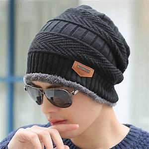 Boys Men Winter Hat Knit Scarf Cap Winter Hats for Men ...