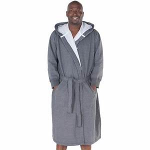 men39s cotton robe sweatshirt style hooded bathrobe del With robe sweat shirt