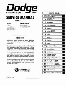 1970 Dodge Challenger  Dart Service Manual