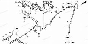 Honda Motorcycle 2003 Oem Parts Diagram For Brake Lines