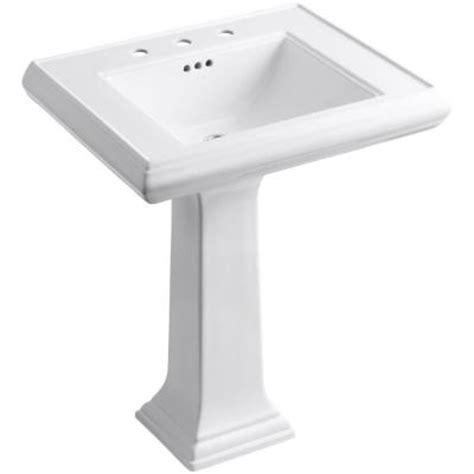 kohler memoirs classic ceramic pedestal bathroom sink in