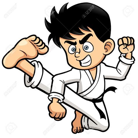 Karate Clipart Clipart Karate Pencil And In Color Clipart