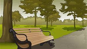 Serene Park Background Cartoon Clipart - Vector Toons