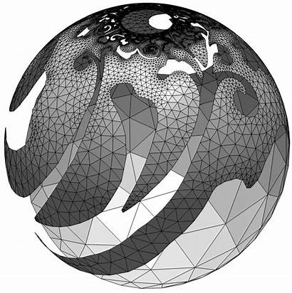 Projection Stereographic Patterns Globe Printed Incredible 3dprint