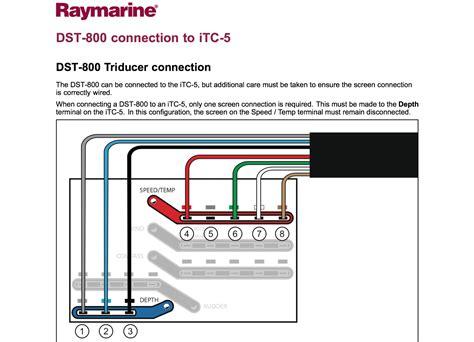 P B Wiring Diagram by Raymarine Itc 5 Instrument Transducer Converter