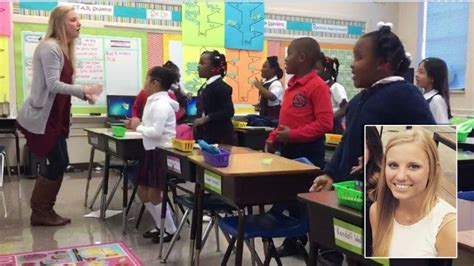 grade students start morning  classroom