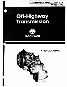 Rockwell T135l43kw8000 Maintenance Manual For Off